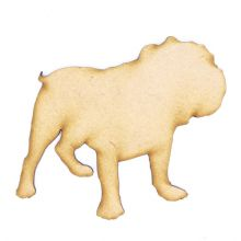 English Bulldog - 3mm MDF Laser Cut Craft Blank Scrapbook Topper Pyrography
